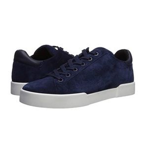 Kenneth Cole  Tyler Suede Laceup Sneaker Navy 9